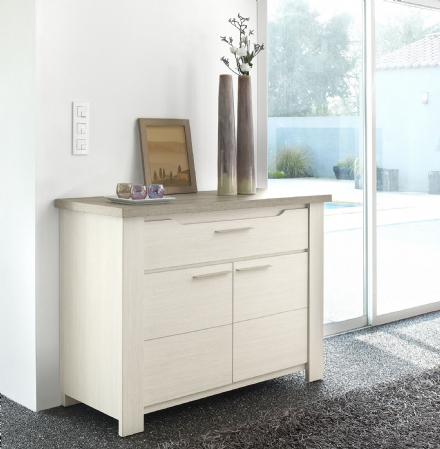 Grey Oak or White Ash Small Sideboard